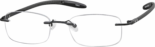 Black Titanium Rimless Glasses