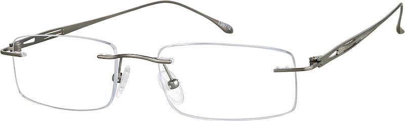 c3c30adb4204 Gray Titanium Rimless Glasses #138712
