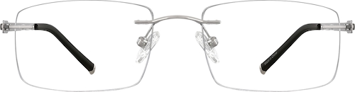 Silver Titanium Rimless Glasses