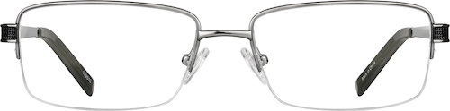 Steel Titanium Half-Rim Glasses