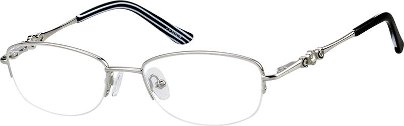 cae7ea93b37 Silver Oval Glasses  150111