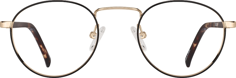 Black Metal Alloy Full-Rim Frame with Spring Hinges #151314
