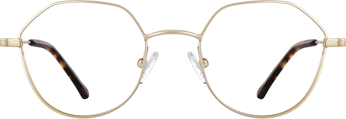 Gold Geometric Glasses