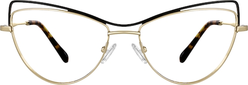 Gold Cat-Eye Glasses