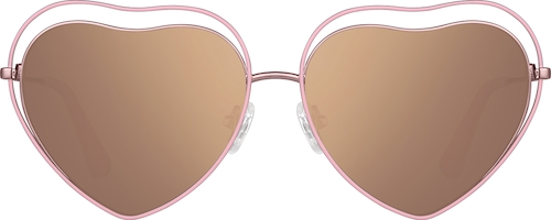 Pink Premium Heart-Shaped Sunglasses