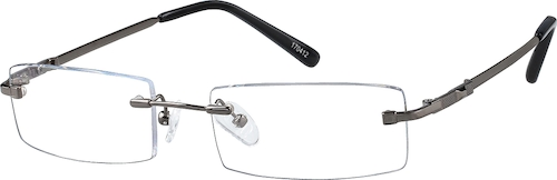 Gray Rimless Glasses