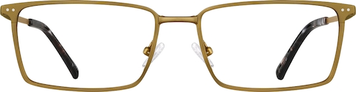 Gold Copper Rectangle Glasses