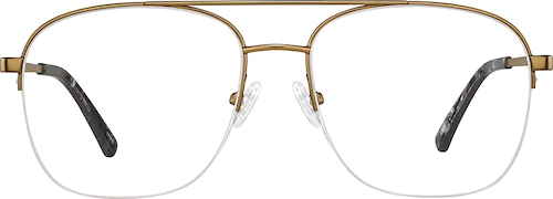 Copper Gold Aviator Glasses