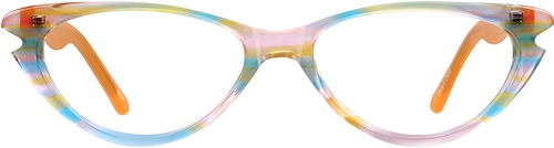 Orange Kids' Cat-Eye Glasses
