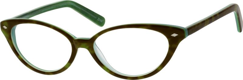 0c87ea0634bcd Green Cat-Eye Glasses  186724
