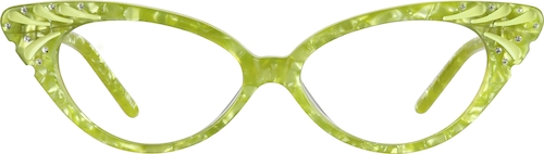 Green Cat-Eye Glasses