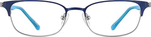 Navy Kids' Rectangle Glasses