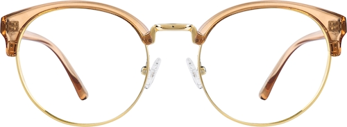 Honey Browline Glasses