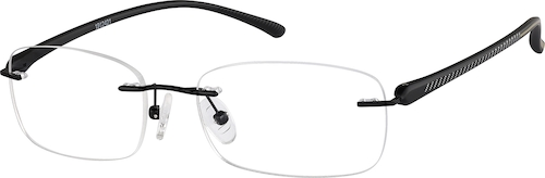 Black Rimless Glasses