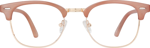 Taupe Kids' Browline Glasses