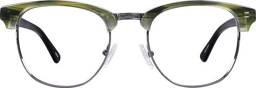 Green Stinson Browline Eyeglasses