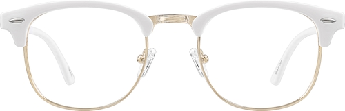 White Browline Glasses