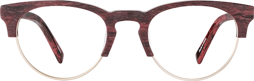 Red Browline Glasses