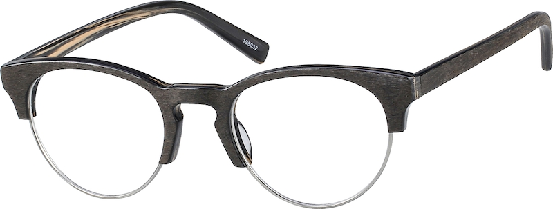 c574ebae18f Wood Texture Browline Glasses  196032