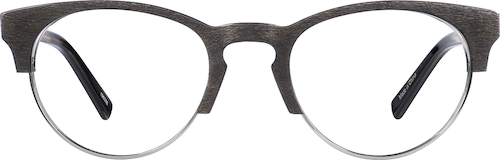Wood Texture Browline Glasses