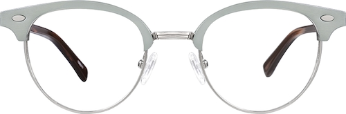 Silver Browline Glasses