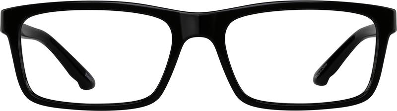 Black Chic Rectangular Eyeglasses #200921