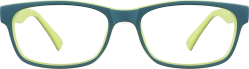 Green Kids' Rectangle Glasses