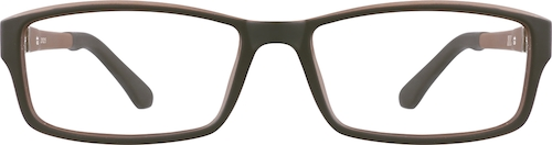 Brown Kids' Rectangle Glasses