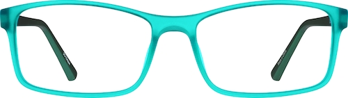 Turquoise Rectangle Glasses