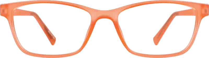Orange Kids' Rectangle Glasses