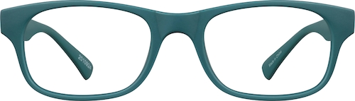 Teal Kids' Rectangle Glasses
