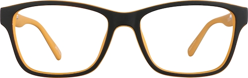Black Kids' Square Glasses