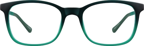 Green Square Glasses