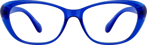 Electric Blue Cat-Eye Glasses