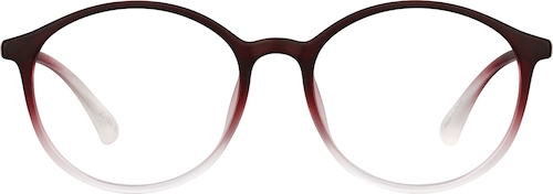 Cranberry Round Glasses
