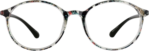 Pattern Round Glasses