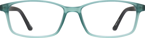 Teal Rectangle Glasses