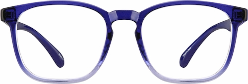 Navy Ombre Square Glasses