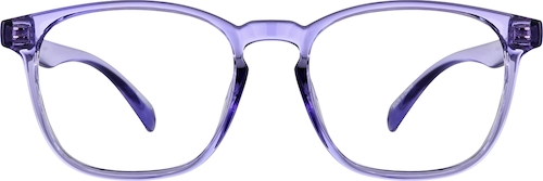 Purple Square Glasses