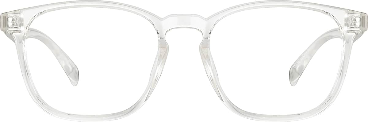 translucent square glasses 2020123 Avator Ray-Ban sku 2020123 eyeglasses angle view sku 2020123 eyeglasses front view