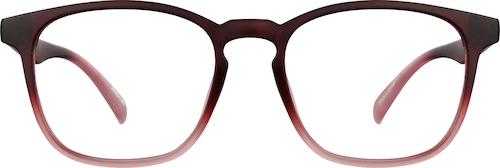 Pink Ombre Square Glasses
