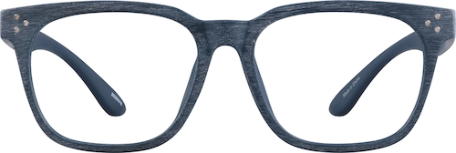 Blue Manzanita Square Glasses
