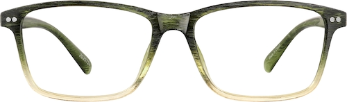 Olive Green Rectangle Glasses