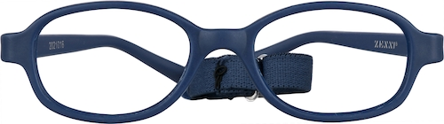 Navy Kids' Flexible Oval Glasses