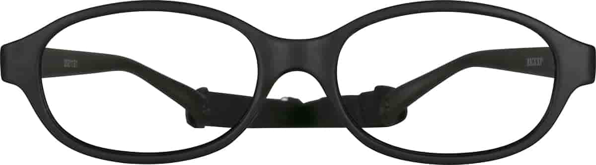 Black Kids' Flexible Oval Glasses