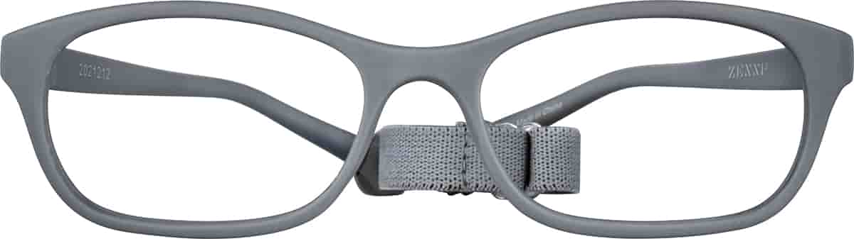 Gray Kids' Flexible Cat-Eye Glasses