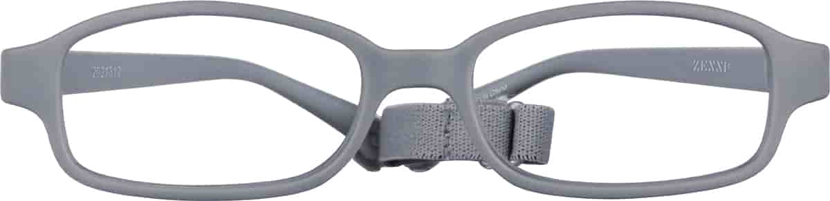 Gray Kids' Flexible Rectangle Glasses