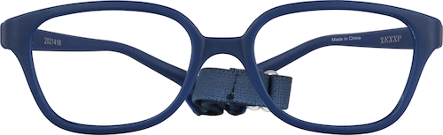 Navy Kids' Flexible Square Glasses