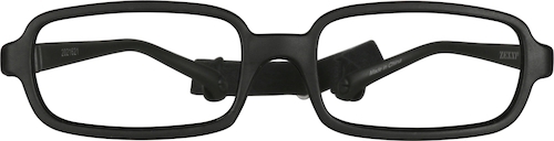 Black Kids' Flexible Rectangle Glasses