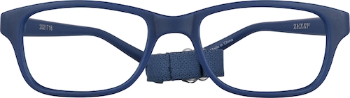 Navy Kids' Flexible Rectangle Glasses